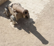 Old canon at an Ottoman fort Royalty Free Stock Images