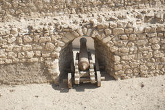Old canon at an Ottoman fort Stock Images