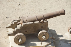 Old canon at an Ottoman fort Royalty Free Stock Photography
