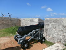 Old canon. In Royal Naval Dockyard Bermuda Royalty Free Stock Images