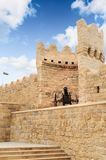Old canon Turkish top in city wall Icheri Sheher (Old Town) of Baku Azerbaijan. Royalty Free Stock Image