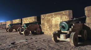 Old Canons at Essaouira Morocco City Walls Royalty Free Stock Photo