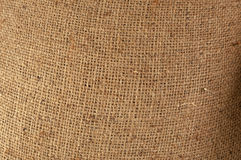 Old canvas, brown sackcloth, vintage beige fabric texture Stock Photography