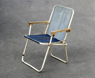 Old canvas chair Royalty Free Stock Images