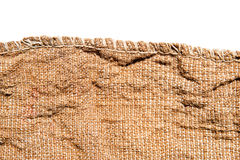 Old canvas edge fabric texture Stock Photos