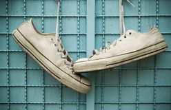 Old canvas shoe Royalty Free Stock Photos