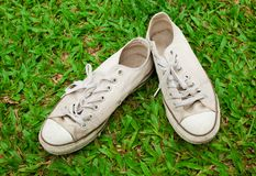 Old canvas shoe Stock Photography