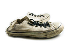 Old canvas shoes Royalty Free Stock Image