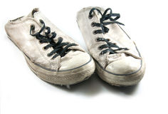 Old canvas shoes Royalty Free Stock Photography
