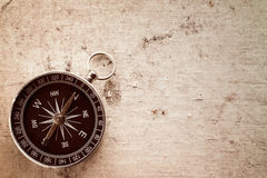 Old canvas texture with compass Stock Photography