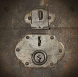 Old canvas trunk lock close up Royalty Free Stock Photos
