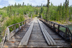 Old Canyon Creek Bridge, Yukon Territory, Canada 02 Royalty Free Stock Photos