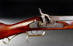 Old Cap and Ball Rifle. Stock Photo