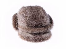 Old Cap Made From Nutria Royalty Free Stock Images