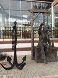 Old capitan statue. Bronze capitan statue and big bronze Royalty Free Stock Image