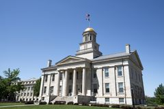 Old capitol building of Iowa city Iowa stock photo