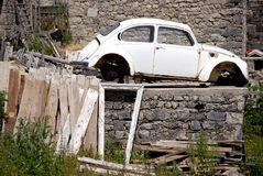 Old car. In the village Stock Photo