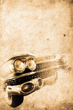 Old car. Front of an old american car in retro usede style Stock Photos