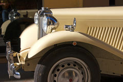 Old Car. Front of a white old car Royalty Free Stock Photo