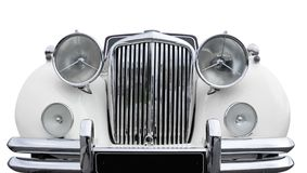 Old car. Front of a white old car Royalty Free Stock Photos