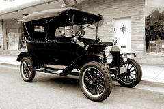 Old car from 1915. In sepia tone Stock Photo