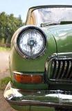 Old car. Farah old car green. Retro Stock Photo