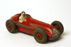 Old car. Old miniature  race car on white background Stock Photo