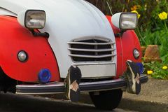 Old car. Old cae with boots Royalty Free Stock Images