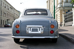 Old car. In Moscow, Russia, East Europe royalty free stock image