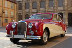 Old car. Elegant car just waiting for newly-weds in Leon (Spain stock image