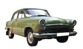 Old car. Old avtomobl. Isolated on white background Stock Image