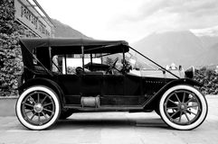 Old car. A very aged car in black and white Royalty Free Stock Photos