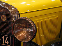 Old car. Old yellow car Royalty Free Stock Images