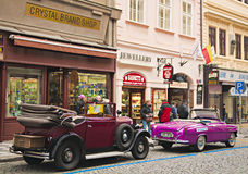 Old car. For tourist rides, prague Royalty Free Stock Images