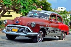 Old car. On Varadero street Royalty Free Stock Photography
