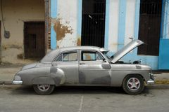 Old car. Old american car in havana Royalty Free Stock Photography