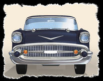 Old car 3d Royalty Free Stock Images