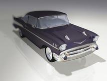 Old car 3d. Concept illustraion Stock Photography