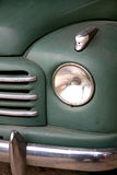 Old car. Detail of the front of an old italian truck Royalty Free Stock Photos