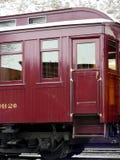 Old Car. Passenger car on antique narrow gauge steam engine train Royalty Free Stock Photo