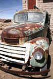 Old car. Old and rusty retro truckwreck Stock Photos