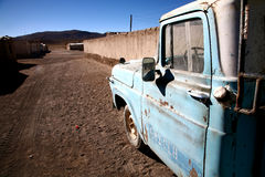 Old car. In a village in Bolivia Royalty Free Stock Photo