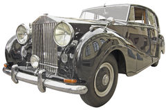 Old car. The antiquarian car isolated over white with clipping path Stock Photo