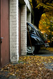 Old car. An old car in autumn Royalty Free Stock Photo