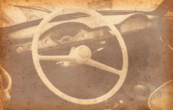 Old Car Added Old paper texture Royalty Free Stock Photography