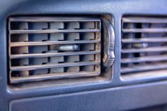 Old car air conditioner channel royalty free stock photos