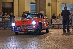 Vintage  Alfa Romeo Giulia Spider Stock Photo