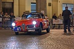 Vintage  Alfa Romeo Giulia Spider Stock Photo
