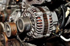 Old car alternator. Stock Photos
