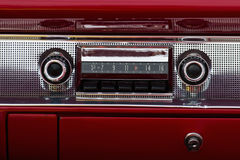 Old car audio stock image